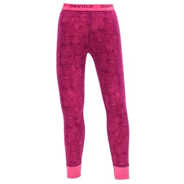 Devold ACTIVE KID LONG JOHNS plum merinoull