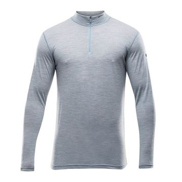 Devold Breeze Man Half Zip Neck grey melange merinoull