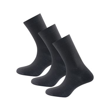 Devold Daily Light sock 3pk black ullsokker