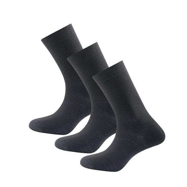 Devold Daily Light sock 3pk black ullsokker