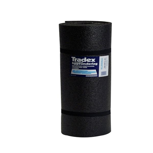 Tradex Liggeunderlag Grå/svart 1800x550x10mm underlag