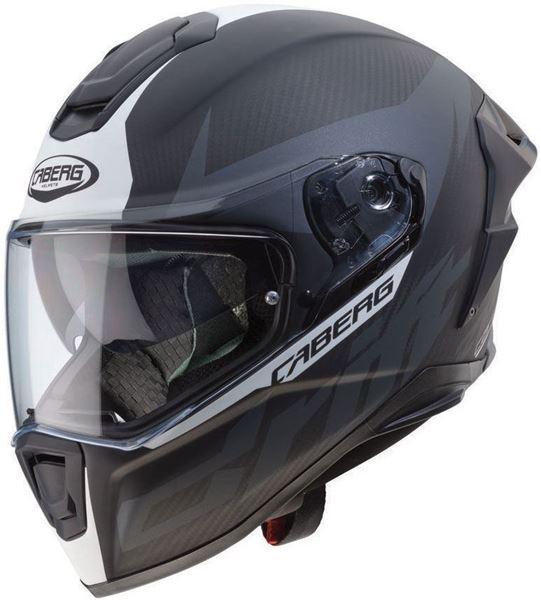 CABERG DRIFT EVO CARBON Matt grå/hvit hjelm