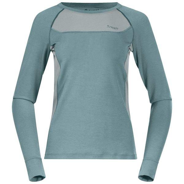Bergans Cecilie Wool Long Sleeve Forest Frost/Misty Forest merinoull ullgenser
